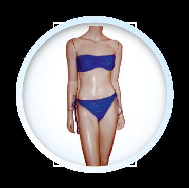 Juego top y panty azul quirúrgico | Polymedical de Colombia SAS