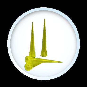 Punta para pipeta amarilla 0 a 200 ul - Polymedical de Colombia S.A.S